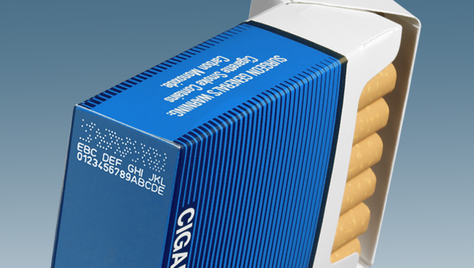 Printing on Cigarette Packs