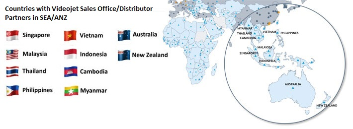 Map Of Southeast Asia Australia And New Zealand.Contact Videojet Technologies S Pte Ltd